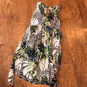 Spence NWOT Large Maxi Dress Animal Print Tropical